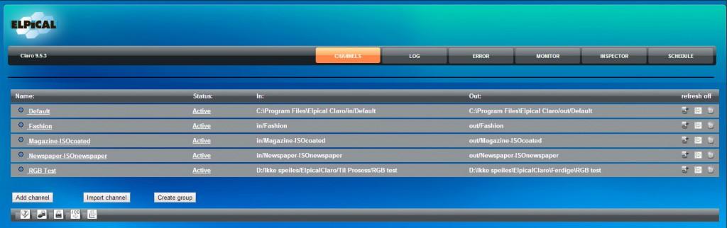 claro user interface